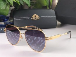 Brown cars online shopping - New fashion luxury car brand MAYBACH sunglasses pilot frame avant garde design style top quality coating color printing uv400 lens