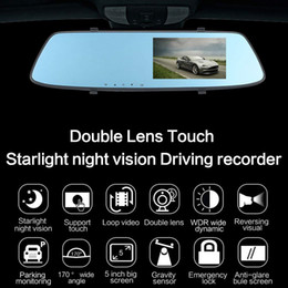 "$enCountryForm.capitalKeyWord NZ - 5"" car DVR mirror rear view dashcam driving video recorder 2Ch dual cameras front 170° rear 120° full HD 1080P night vision G-sensor"