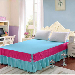 set cover sale 2019 - quality stitching bedpreads set bed coverlet 1 3pcs quality bedspread set hot sale bedskirt with mattress cover free shi