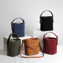 Smart Hand Bags Australia - bags for women 2019 New Mini Smart Shoulder Straddle Hand Carry Bucket Cabbage Basket Grinded True Leather Mini Bag