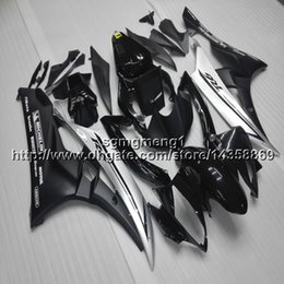 Yamaha Yzf R6 Cover Australia - Gifts+Botls Injection mold black silver motorcycle cover for Yamaha YZF-R6 2006-2007 06 07 YZFR6 ABSmotor Fairing