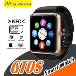 $enCountryForm.capitalKeyWord Australia - GT08 Smartwatch With SIM Card Slot Android Smart Watch for Samsung and IOS Apple iphone Smartphone Bracelet Bluetooth Watches