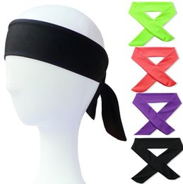 Back Hair Men Australia - Fashion Solid Tie Back Headbands Stretch Sweatbands Hair Band Moisture Men Women Bands Scarves for Sports