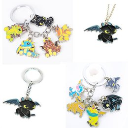 $enCountryForm.capitalKeyWord Australia - How to Train Your 3 keychain anime Metal Figures Pendants Key Chains Toothless 5 pendant key rings cosplay collection