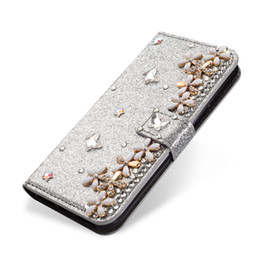 $enCountryForm.capitalKeyWord NZ - Mytoto Lucky Flower Clover Diamond Glitter Leather Case For iPhone X XR XS Max 6 6S 7 8 Plus Magnetic Flip Wallet Cover