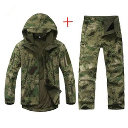 $enCountryForm.capitalKeyWord Australia - Men TAD Soft Shell Camouflage Outdoor Jacket Set Army Sports Waterproof Uniform Clothes Wargame Jacket And Pants Hunting Gear