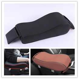 armrest pads 2020 - Car Seat Armrest Cushion Leather Car SUV Center Box Armrest Console Soft Pad Cover Memory Foam Rest Support cheap armres