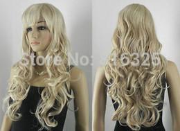 $enCountryForm.capitalKeyWord NZ - New Cosplay Long Curly Gold Blond Women Full Wig