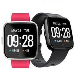 PurPle band online shopping - Y7 Smart Fitness Bracelet Blood Pressure Oxygen Sport Tracker Band Heart Rate Monitor Wristband Pk Mi band Fitbit Versa