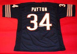 3da122bba Cheap retro 34 WALTER PAYTON CUSTOM MITCHELL & NESS Jersey Mens Stitching  High-end Size S-5XL Football Jerseys College NCAA