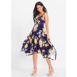 Dresses Apparel NZ - Womens Summer Flora Line Print Dress Sleeveless V Neck Sashes Sexy Female Clothing Beach Style Fashion Casual Apparel