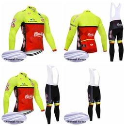 men pants italy Australia - ITALY team Cycling Jersey Long Sleeves Bib Pants sets Winter outdoor sports MTB Bike Thermal Fleece Clothes Q81427