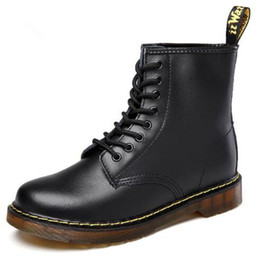 $enCountryForm.capitalKeyWord Canada - plus Size 35-43 Chunky Motorcycle Boots For Women Autumn winter boots 2019 new Fashion Round Toe Lace-up Combat Martin Boots Ladies Shoes
