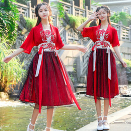 $enCountryForm.capitalKeyWord Australia - Traditional Improved Hanfu Female Chinese Folk Dance Costume Ancient Fairy Dress Princess Chaise Embroidery Hanfu Cosplay DL4156