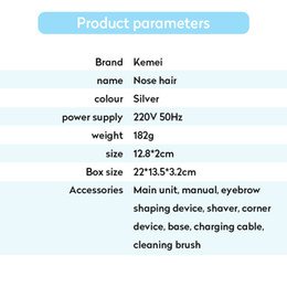 Wholesale bikini men resale online - KEMEI Multifunctional electric nose tagliacapelli naso per uomo face bikini shaving set Man and woman zeCUg