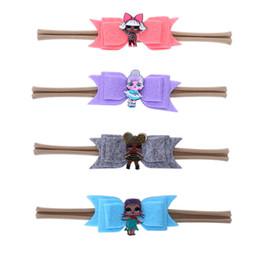 $enCountryForm.capitalKeyWord Australia - Baby Girl Headband Hair Bow Girls Hair Accessories with Surprise Doll Photography Props Hair Bow Rainbow Grosgrain Ribbon Headband