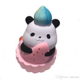 Pretty Cell Phones Australia - Pretty DHL Squishy Cute panda 14cm squishies Slow Rising Soft Squeeze Cute Cell Phone Strap gift Stress children toys Decompression Toy