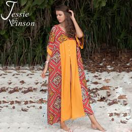 c08e2a9c39bce Jessie Vinson Boho Printed Half Sleeve Patchwork Chiffon Kimono Women  Summer Lace up Beach Cover up Bohemian Kimono Cardigan Top