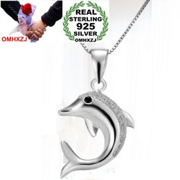 silver dolphin chains UK - OMHXZJ Wholesale geometric woman man dolphins kpop star fashion 925 sterling silver pendant Charms PE45 ( NO Chain Necklace )