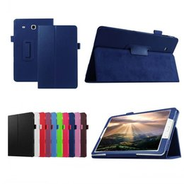 smart tablets Canada - For Samsung Galaxy Tab E 9.6 Case T560 T561 SM-T561 PU Leather Tablet Pad PC Protective Case Flip Cover Shell