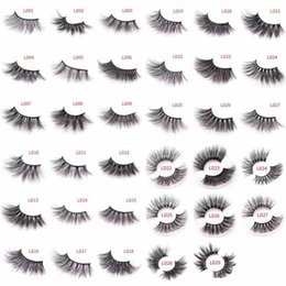 $enCountryForm.capitalKeyWord Australia - 5D Mink Eye Lashes 25mm False Eyelashes Thick Long Messy Cross Eye Lashes Extension Eye Makeup Tools