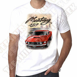 muscle cars NZ - New 429 RedNewMustang American Muscle car mens 100% cotton White T=shirt