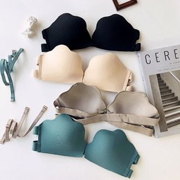 $enCountryForm.capitalKeyWord NZ - 2019 new 4 colors front button fashion Sexy Bra Sets For Women Wireless Thin seamless Underwear Solid young girls dress Lingerie Set