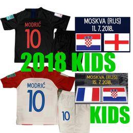 Crianças 2018 Copa do mundo MODRICO MANDZUKIC RAKITIC Cro Início Camisas de Futebol crianças 2018 Copa do Mundo PERISICO KALINIC KOVACIC Camisas de Futebol venda por atacado