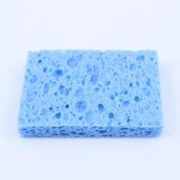 Soldering tip cleaning online shopping - YuXi MM Blue High Temperature Resistant Heatstable Soldering Iron Solder Tip Welding Cleaning Sponge Remove Tin