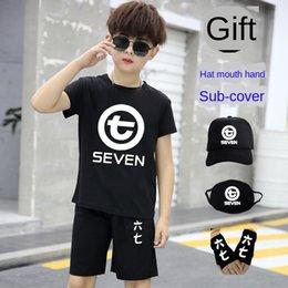 Wholesale assassins t shirt for sale – custom Assassin Wu Liuqi T shirt men s Wu Liuqi student fashion clothes children s short sleeved suit pants suit T shirt pants set