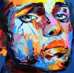 $enCountryForm.capitalKeyWord Australia - Francoise Nielly Palette Knife Impression Home Artworks Modern Portrait Handmade Oil Painting on Canvas Concave and Convex Texture Face001