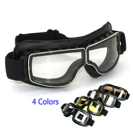 girls ski goggles NZ - Motocross Aviator Ski Motorcycle Scooter Goggles Retro Helmet goggle for Harley