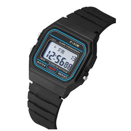 China Mens LED Digital Watches Students Silicone LED Watch Fashion Electronic Sports Watches Jelly Candy Wristwatches For Mens Women 91W cheap electronic rubber mens watch suppliers