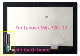 New origiNal touch screeN online shopping - New original with frame For Lenovo Miix miix IKB Touch screen lcd assembly B120YAN01