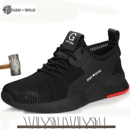 $enCountryForm.capitalKeyWord Australia - Mens Steel Toe Work Shoes Fashion Casual Breathable Outdoor Sneakers Puncture Proof Boots Comfortable Industrial Safety Shoe MenMX190907