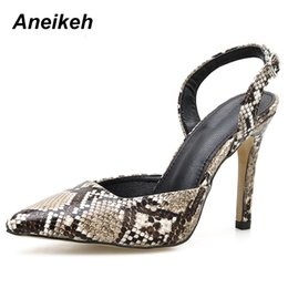 Serpentine Buckle NZ - Dress Aneikeh 2019 Spring Autumn Pu Classic Pumps Women Shoes Thin High Heels Shoes Pointed Toe Shallow Serpentine Size35-41 For Party