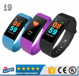 Smart Watches For Windows Australia - I9 Smart Bracelet smart watch Heart Rate Monitor bluetooth blood pressure Health Fitness Smart Band for Android iOS activity tracker