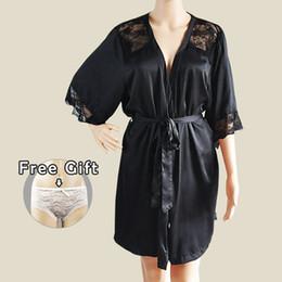 b119482ebe Robe Femme Silk Sleepwear Satin Bathrobe Kimono Home Dress Sexy Sleep  Lounge Elegant Night Wear Women