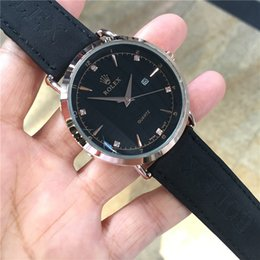 Wholesale New Leather Top luxury Fashion Mens Wristwatches designer popular waterproof Quartz Watch Sports Military mens Black Watches reloj muje