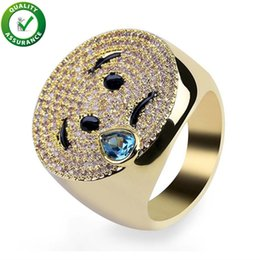 $enCountryForm.capitalKeyWord NZ - Hip Hop Jewelry Wedding Rings Sets Engagement Diamond Ring Mens Luxury Smiling Face Emoji Iced Out Micro Pave CZ Expression Smile Ring Women