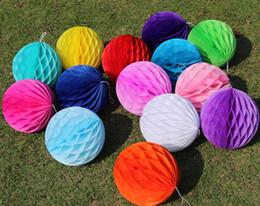 $enCountryForm.capitalKeyWord Australia - Round Paper Honeycomb Ball With Tissue Flower Chinese Lantern For Wedding Kid Birthday Party Decorations Supplies Many Sizes SN1779