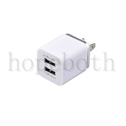 Apple Dual Usb Wall Charger Australia - Dual USB AC Power Adapter Wall Charger Colorful Home Travel Chargers US EU Plug For Samsung Galaxy LG Tablet iPad iPhone