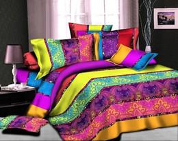 set cover sale 2019 - Hot Sale High Quality 4pcs 3D Bedding Set Cotton Reactive Bedding Set Duvet Covers Comforter Bed Linen Sets cheap set co