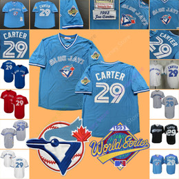 b219efd75 Joe Carter Jersey 1993 WS World Series Toronto Baseball Blue Jays Home Away  White Blue Grey Red Black All Stitched