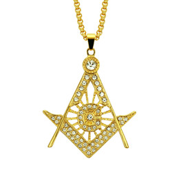 hip hop diamond pendants 2019 - Periphery Hip-hop Necklace The Lodge Hollow Out Diamond Alloy Pendeloque Cut Man Ornaments Chokers Gift Iced Out Islam H