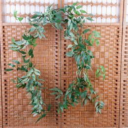$enCountryForm.capitalKeyWord Australia - 170cm Wedding Artificial Willow Vine Ceiling Winding Road Layout Rattan Hotel Home Decoration Artificial Flowers Willow Wreath