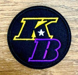 KB Patch 2 TONE LA Basketball Embroidered Iron On patches badges sewn on on Sale
