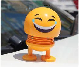 $enCountryForm.capitalKeyWord Australia - Car Ornaments Funny Spring Toy car interior decoration accessories Emoji Shaker Auto Decors Shaking Head Doll Car funny Toy
