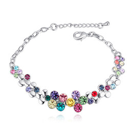 Top Selling Multicolor Crystals From Swarovski Women Fashion Jewelry  Bracelets For Wedding Party Bijoux Rhodium Plating Jewellery Gift bf8947812