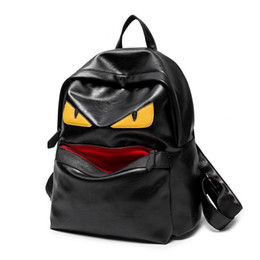 cool high school bags NZ - Famous Designer Travel Backpack Casual Student School Bags Teenagers High Quality Moster Cool double Shoulder Bags Women Men